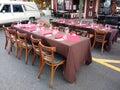 Restaurant Tables Outside for Dining Al Fresco Royalty Free Stock Photo