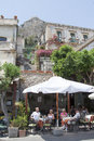 Restaurant in Taormina, Sicily Royalty Free Stock Photo