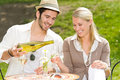 Restaurant terrace elegant couple sunny day Stock Photos