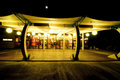 Restaurant terrace at night.  Royalty Free Stock Photo