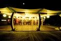Restaurant terrace at night. Royalty Free Stock Photo