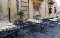 Restaurant Terrace in Noto Royalty Free Stock Images