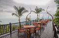 Restaurant in thailand beautiful view from a reustaurant koh samui Stock Photo