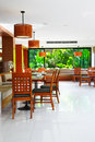 Restaurant in tropical resort Royalty Free Stock Photography