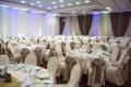 Restaurant for weddings hall dinner Stock Images