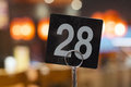 Restaurant table number Royalty Free Stock Photo