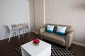 Restful white room condo in chiang am Stock Images