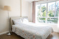 Restful white room condo in chiang am Royalty Free Stock Images