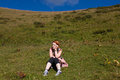 Resting on hill Stock Images