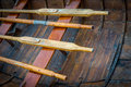 Resting Oars Royalty Free Stock Photo
