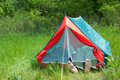 Resting in tent Royalty Free Stock Photo