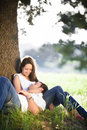Resting young couple Royalty Free Stock Photo