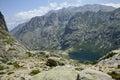 Restonica valley lac de melo at corsica in france Stock Photo