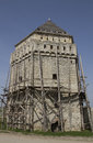 Restoration of fortress tower a under Royalty Free Stock Photography