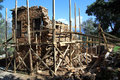 Restoration of ruined house in fortress in alanya turkey Stock Photo