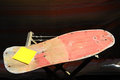 Restore an old skateboard with a yellow sandpaper Royalty Free Stock Photography