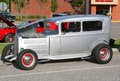 Restored American Made Antique Silver Car Royalty Free Stock Photo