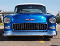 Restored antique blue chevrolet belair Royalty Free Stock Photography