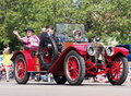 Restored Antique Fire Chief's Car K-Days Parade Royalty Free Stock Photo