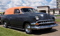 Restored black and orange coupe with running boards Royalty Free Stock Photography