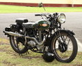 Restored bsa motorcycle a beautifully in visitor s carpark at the raaf air museum point cook victoria australia Royalty Free Stock Photo