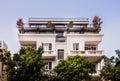 Restored building on rothschild blvd israel Royalty Free Stock Image