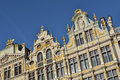Restored buildings of guild houses on grand place in brussels belgium Stock Images