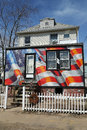 Restored house five month after Hurricane Sandy in hurricane devastated area in Staten Island, NY Stock Photos