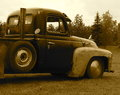 Restored Low Rider Truck In Sepia Royalty Free Stock Photo