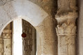 The restored nteriors of a castle of middle ages Royalty Free Stock Photo