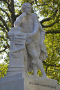 Restored statue of william shakespeare leicester square london grade ii in seen after extensive restoration Stock Image