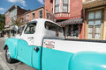 Restored Studebaker truck in Main Street Hannibal Missouri USA Royalty Free Stock Photo
