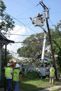 Restoring Power to Baton Rouge Stock Photo