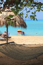 Restort beach in jamaica near the city of ocho rios Royalty Free Stock Photography