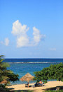Restort beach in jamaica near the city of ocho rios Stock Image