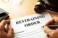 Restraining order. Royalty Free Stock Photo