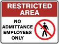 Restricted Area - No Admittance - Employees Only Royalty Free Stock Photo