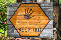 Restricted area sign. Keep out. Royalty Free Stock Photo