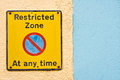 Restricted zone Royalty Free Stock Photo