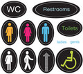 Restroom Icons Royalty Free Stock Images