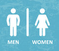 Restroom male and female sign Royalty Free Stock Photos