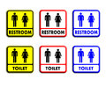 Restroom and toilet sign Stock Photography