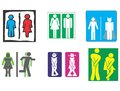 Restroom toilet wc symbol sign women men Royalty Free Stock Images