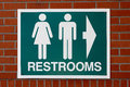 Restrooms sign Royalty Free Stock Photo