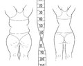 The result before and after a diet. Fat and slim woman.