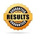Results guaranteed gold vector seal Royalty Free Stock Photo