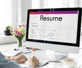 Resume Apply Work Form Concept Royalty Free Stock Photo
