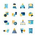 Resume Flat Color Decorative Icons Set Royalty Free Stock Photo
