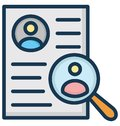 Resume Isolated Vector Icon That can be easily Modified or Edited.