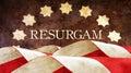 Resurgam. The Latin for I shall rise again. Royalty Free Stock Photo